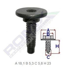 Bumper screw Fiat - package 5pcs