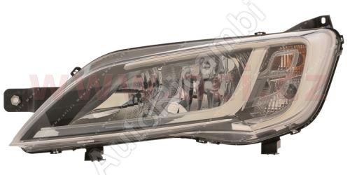 Svetlomet Fiat Ducato 2014 ľavé H7+H7+LED čierne OEM