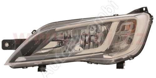 Svetlomet Fiat Ducato 2014 ľavý H7+H7 strieborný rámik bez LED