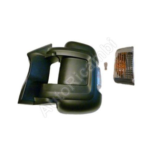 Zrkadlo Fiat Ducato 250, 2014> ľavé, krátke, elektrické, 16W žiarovka, so senzorom (80mm)