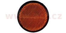 univerzální odrazka kulatá, samolepící, oranžová (průměr 80mm) TRUCK