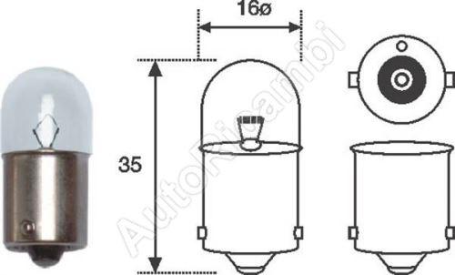 Žiarovka 12V 10W R10W
