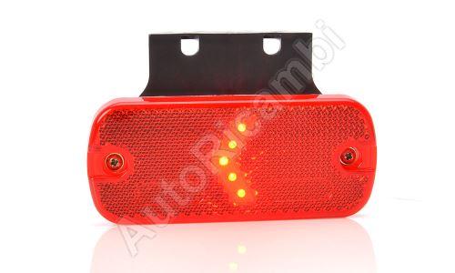 Obrysové svetlo červené obdĺžnikové, LED s držiakom