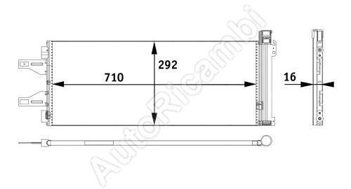 Kondenzátor klimatizácie Fiat Ducato 250