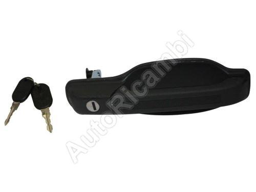 Vonkajšia kľučka predných dverí Iveco TurboDaily do 2000 pravá, aj zadné dvere s kľúčom