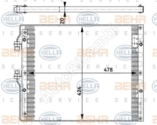 Condenser for air conditioning Iveco EuroCargo Euro 2 / Tector until 2015