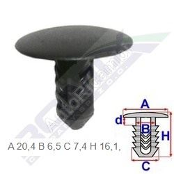 Fiat clip for covers (10pcs)
