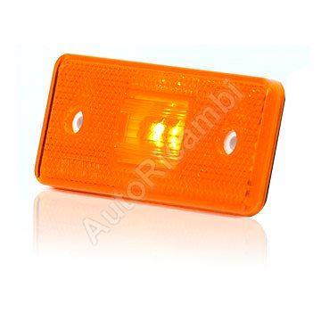 Pozičné svetlo oranžové obdĺžnikové, LED s podložkou