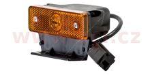 boční poziční světlo oranžové s 50cm kabelem s koncovkou CLICK-IN a pravoúhlým držákem 24V