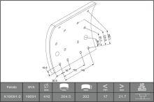 Brzdové obloženie Iveco EuroTech sada 8ks