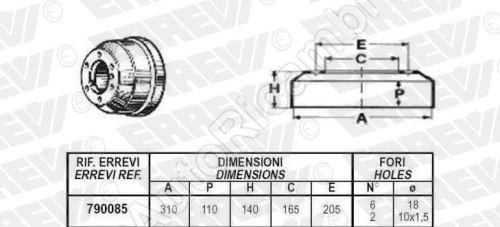 Brake drum Iveco TurboDaily 59.12