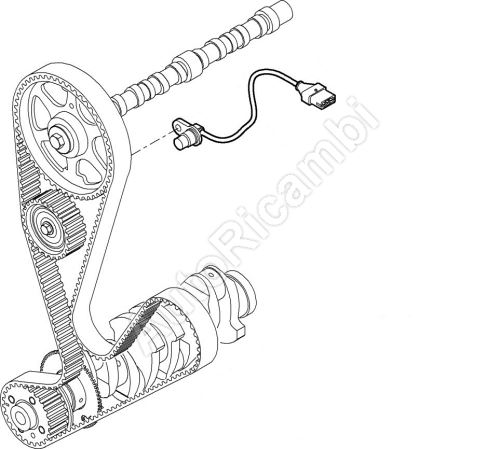 Snímač otáčok vačkového hriadeľa Fiat Ducato 244 2,3 do č. mot 144641