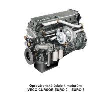 Údaje k motorom Iveco Cursor E2 - E5 (PDF)