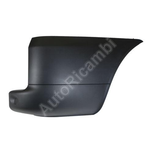 Bumper corner Fiat Doblo 2005-10, rear, right, black