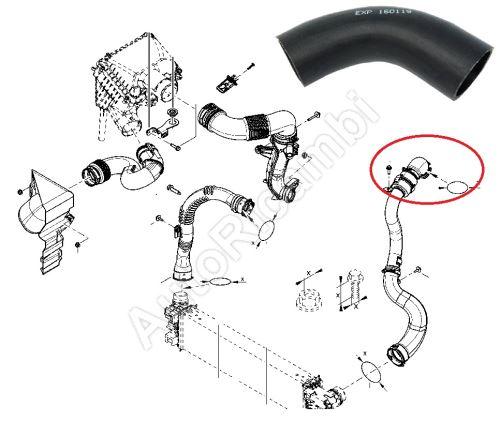 Hadica plniaceho vzduchu Renault Trafic 2014-2019 1,6 z intercoolera do klapky