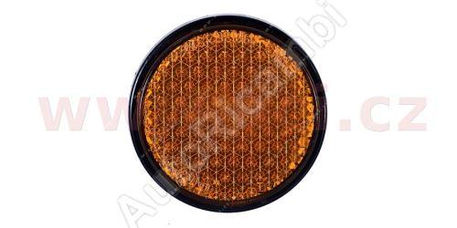univerzální odrazka kulatá, samolepící, oranžová (průměr 60mm) TRUCK