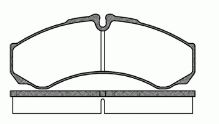 Brake pads Iveco Daily 2000 35C,50C F= R, 65C rear, TurboDaily