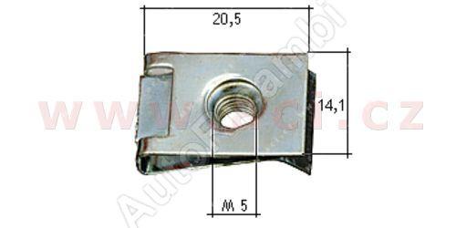 kovová příchytka s vnitřním závitem (10ks) M5