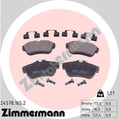 Brake pads Fiat Scudo 07> rear, with accessories