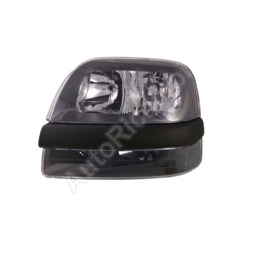 Headlight Fiat Doblo 2000-05 front, left, without foglamp, with motor