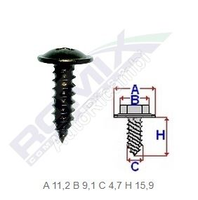 Self-tapping screw Fiat, Alfa package 10pcs