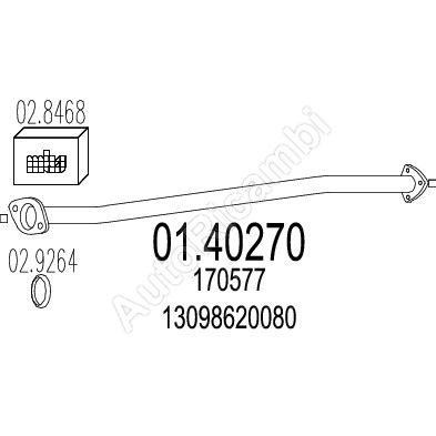 Rúra výfuku Fiat Ducato, Boxer 230 1. diel L=1170 mm
