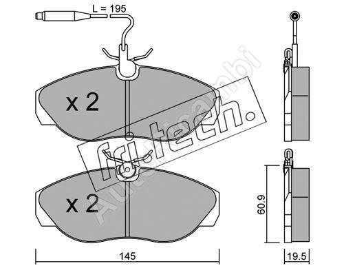 Brake pads Fiat Ducato 230 with wear sensor