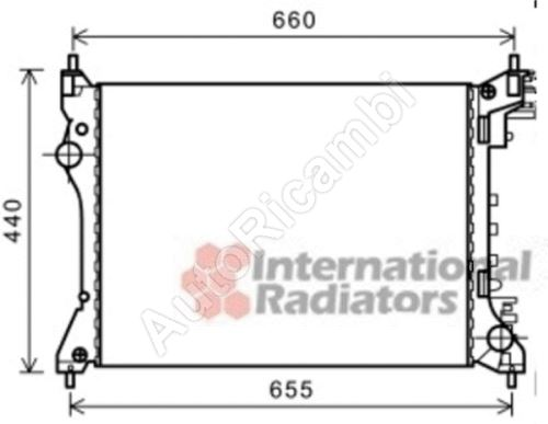 Water radiator Fiat Doblo 2010 1,4i