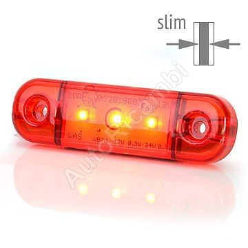 Pozičné svetlo červené, 3 LED