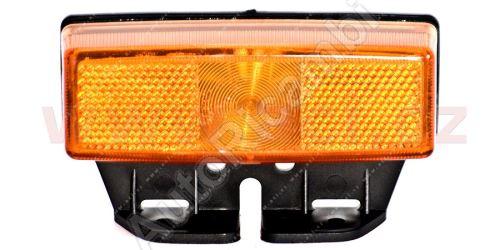 boční poziční světlo oranžové s odrazkou,obj. a pravoúhlým držákem TRUCK  L=P