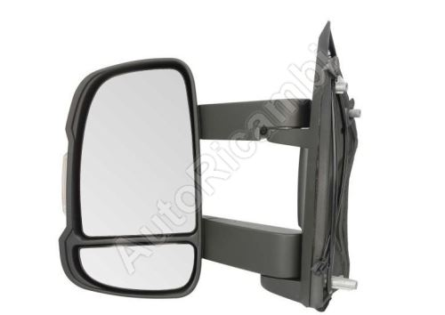 Mirror Fiat Ducato 250 left long manual 16W bulb - without sensor and heating