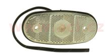 poziční světlo oválné bílé LED 12/24V TRUCK  L=P