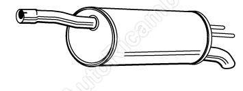 Tlmič výfuku Fiat Doblo 1,4i/1,6i, 1,9D