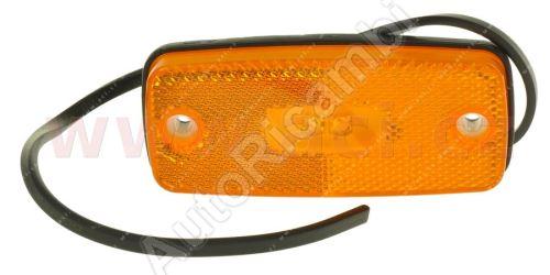 boční poziční světlo obdélníkové oranžové LED 12/24V TRUCK  L=P