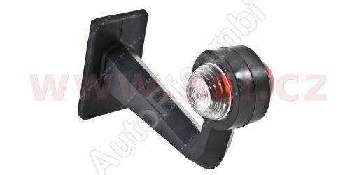 obrysové světlo červeno-bílé s pravoúhlým držákem a kabelem TRUCK