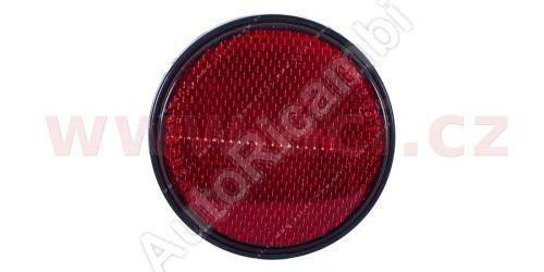 univerzální odrazka kulatá, samolepící, červená (průměr 80mm) TRUCK