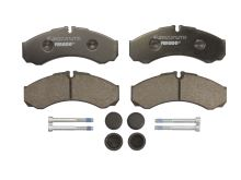 Brake pads Iveco Daily 2000 35S front, thickness 17mm